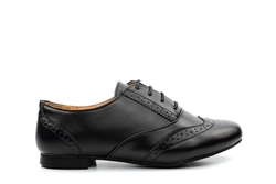 Girls Brogue School Shoes Black (Sizes 2 - 5)