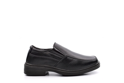 Sears Boys Twin Gusset Slip On School Shoes Black