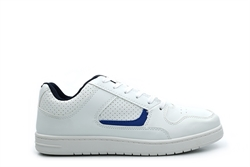 Mens Lace Up Trainers White/Blue