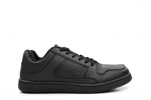 Mens Lace Up Trainers Black