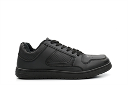 Dek Mens Lace Up Casual Trainers Black
