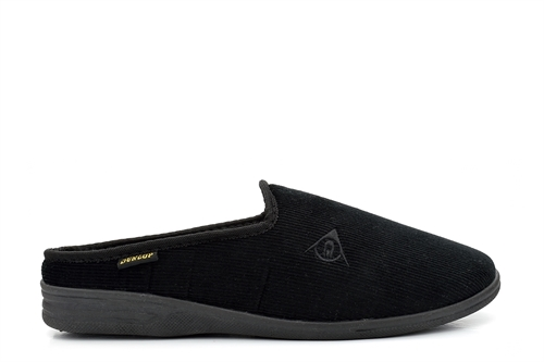 Dunlop Mens Ribbed Valour Mule Slipper Black