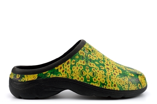 Womens Garden Shoes Sunflower Print