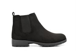 Womens Faux Suede Chelsea Boots Black
