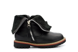 Chatterbox Girls Twin Zip Fastening Ankle Boots Black