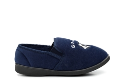 Zedzzz Boys Football Slippers With Twin Gusset Navy