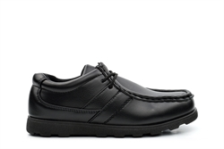 Renegade Sole Boys Lace Up School Shoes Black