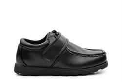 Renegade Sole Boys Velcro Fastening School Shoes Black