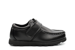 Renegade Sole Boys Velcro Fastening School Shoes Black