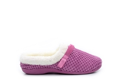 Womens Memory Foam Mule Slippers Pink