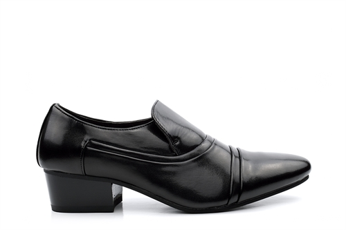 Mens Cuban Heel Slip On Shoes Black