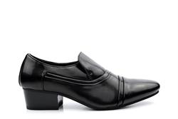 Mens Cuban Heel Slip On Shoes Black
