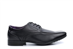 US Brass Mens Wide Fit Lace Up Shoes Black