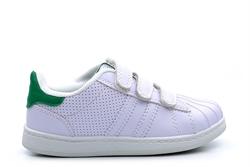 Mercury Kids Velcro Touch Fasten Trainers White/Green