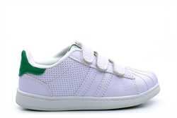 Mercury Kids Touch Fasten Trainers White/Green