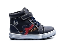 Boys High Tops With Fur Lining Navy