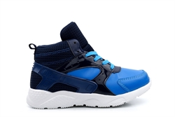 Boys High Top Lace Trainers Blue