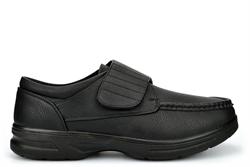 Dr Keller Mens Wide Fit Velcro Casual Shoes Black