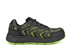 Grafters Light Weight Safety Trainers With Shock Absorbing Sole Black/Lime