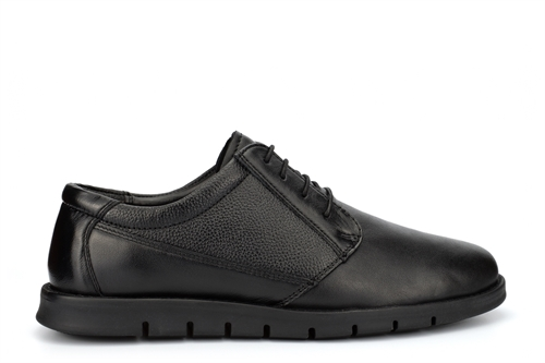 Dr Keller Mens Leather Lace Up Shoes Black