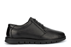 Dr Keller Mens Angus Leather Casual Shoes With Lace Up Fastening Black