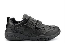 Dek Boys Touch Fasten School Shoes With Twin Strap Fastening