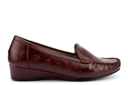 Comfort Plus Womens Wide Fit Wedges Burgundy