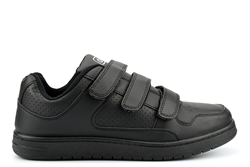 Dek Mens Velcro Fastening Casual Trainers Black