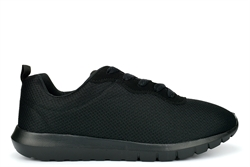 Ascot Mens Super Lightweight Lace Trainers With Memory Foam Insole Black