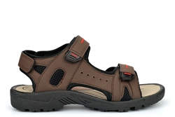 PDQ Mens Touch Fastening Sports Sandals Brown