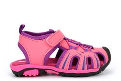 Girls Closed Toe Breathable Sandals Pink