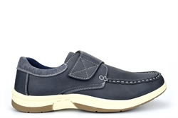 Dr Keller Mens Casual Shoes With Velcro Fastening Navy