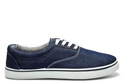 Dek Mens Denim Canvas Shoes Navy