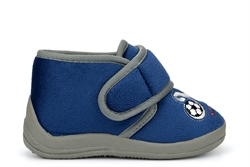 Sleepers Boys Touch Fastening Bootie Slippers Navy Blue