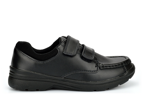 Chatterbox Boys Coated Leather Touch Fastening School Shoes