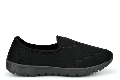 Chix Womens Slip On Casual Trainers With Memory Foam Black