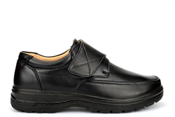 Scimitar Mens Wide Fit Shoes Very Lightweight With Touch Fastening Black (E Fitting)