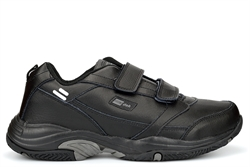 Dek Mens Wide Fit Leather Touch Fastening Extra Large Trainers Black Sizes 13-15 (E Fitting)