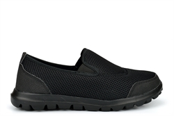 Unisex Super Light Weight Slip On Shoes With Mesh Upper Black