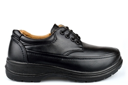 Scimitar Mens Wide Fit Shoes Very Lightweight With Lace Up Fastening Black (E Fitting)