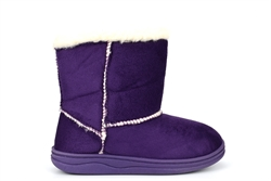 HaoBu Girls Winter Boots With Warm Fleece Lining Purple