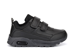 Dek Boys Touch Fasten Light Weight School Trainers Black