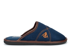 Dunlop Premier Mens Mule Slippers With Padded Insole Navy Blue