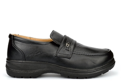 Scimitar Mens Wide Fit Slip On Shoes Very Lightweight Black (E Fitting)