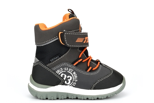 Cortina Kids Touch Fasten Snow Boots Waterproof And Breathable Grey