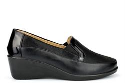 Moenia Womens Comfort Casual Wedge Heel Shoes Black