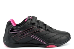 Dek RAVEN Womens Touch Fasten Casual Trainers Black/Fuchsia
