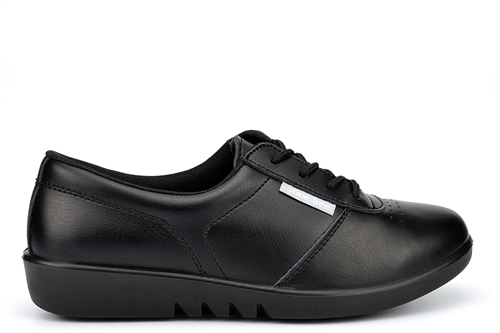 Shoe Tree Womens Lightweight Leather Comfort Shoes Black