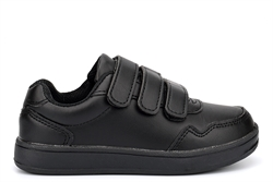 US Brass TOMMY Boys Touch Fasten School Shoes Black