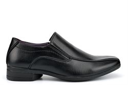 US Brass Boys Twin Gusset Slip On Formal School Shoes